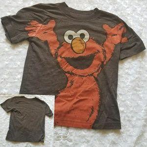 Boys 5T Elmo Short Sleeve T-shirt Gray Red